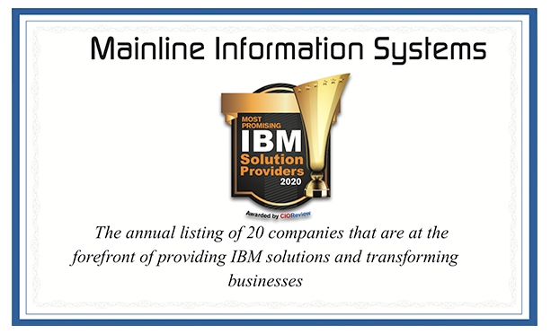 Mainline Named to CIOReview Top 20 IBM Solution Provider List