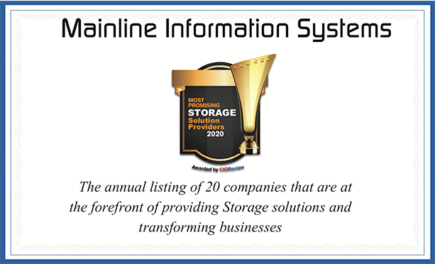 Mainline Named to CIOReview Most Promising Storage Solution Providers 2020