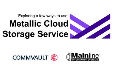 VLOG: Metallic Cloud Storage Service, a Commvault venture
